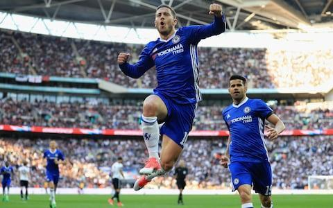 <span>Hazard caused Tottenham plenty of problems last time they played at Wembley</span> <span>Credit: Getty images </span>