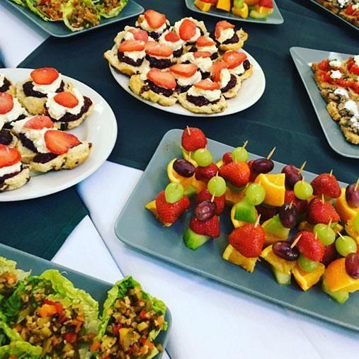 The varied menu featured canapes, scones and lettuce cups. Photo: Twitter