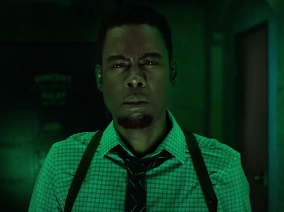 For oddly extended periods of time, we watch Zeke (Chris Rock) in 'detective mode', as he furrows his brow and narrows his eyes so that you can almost see the cartoon gears whirring inside his brainLionsgate