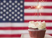"""<p>You can't celebrate America's birthday without some <a href=""""https://www.goodhousekeeping.com/holidays/g1748/red-white-blue-july-fourth-desserts/"""" rel=""""nofollow noopener"""" target=""""_blank"""" data-ylk=""""slk:red, white, and blue desserts"""" class=""""link rapid-noclick-resp"""">red, white, and blue desserts</a>! After baking some of the best cupcakes, brownies, and <a href=""""https://www.goodhousekeeping.com/holidays/g32446340/fourth-of-july-cake-ideas/"""" rel=""""nofollow noopener"""" target=""""_blank"""" data-ylk=""""slk:4th of July cakes"""" class=""""link rapid-noclick-resp"""">4th of July cakes</a>, the whole family can join in on the festive decorating — or even compete in a friendly bake-off.</p><p><strong>RELATED: </strong><a href=""""https://www.goodhousekeeping.com/food-recipes/dessert/g4315/fourth-of-july-cupcakes/"""" rel=""""nofollow noopener"""" target=""""_blank"""" data-ylk=""""slk:30 Festive 4th of July Cupcakes to Celebrate America's Birthday in Style"""" class=""""link rapid-noclick-resp"""">30 Festive 4th of July Cupcakes to Celebrate America's Birthday in Style</a></p>"""
