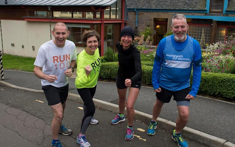 Eric (furthest right) gears up for a run with the team from Maggie's - © Ian Jacobs Photography