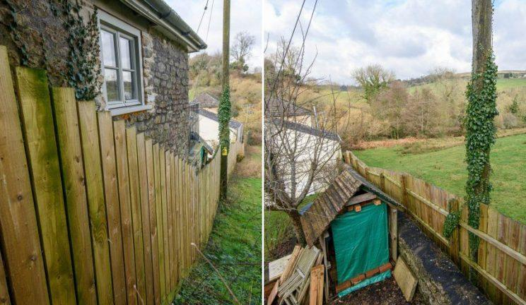 Ms Chubb says the fence is necessary to protect grazing cows (credit: SWNS)