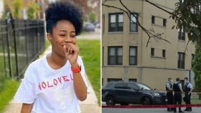 amaria jones is seen left, right is an image of police surrounding the apartment building. Source: CBS