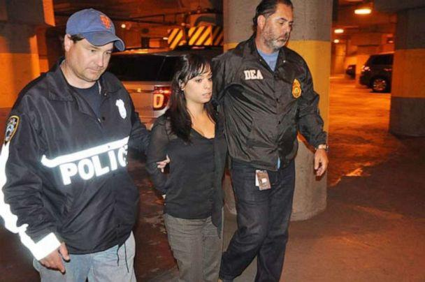 Karina Pascucci is seen here during her 2014 arrest. (U.S. Dept. of Justice)