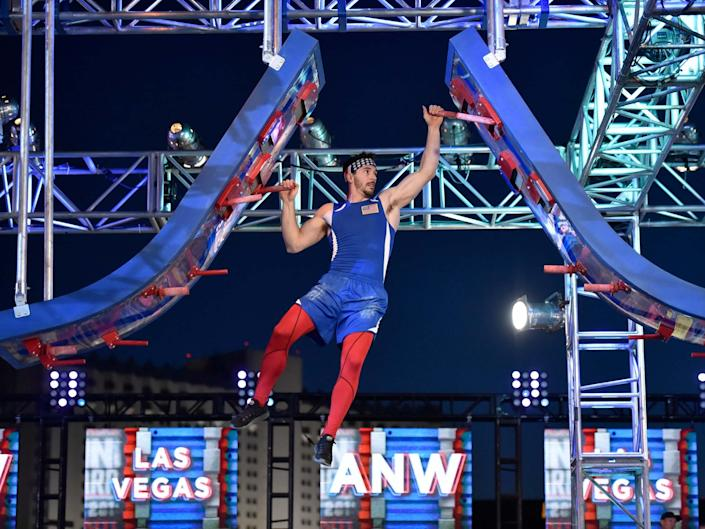 Drechsel on American Ninja Warrior: USA vs World in 2020: NBCU Photo Bank via Getty Images