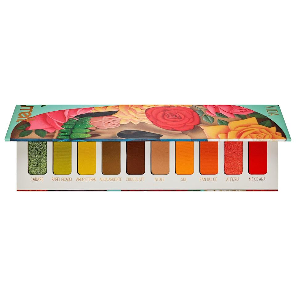 """<p>Get back to nature while staying inside since all of the bright, earth-toned shades in this <a href=""""https://www.popsugar.com/buy/Melt-Cosmetics-Amor-Eterno-Eyeshadow-Palette-576139?p_name=Melt%20Cosmetics%20Amor%20Eterno%20Eyeshadow%20Palette&retailer=sephora.com&pid=576139&price=35&evar1=bella%3Aus&evar9=47494507&evar98=https%3A%2F%2Fwww.popsugar.com%2Fbeauty%2Fphoto-gallery%2F47494507%2Fimage%2F47494514%2FMelt-Cosmetics-Amor-Eterno-Eyeshadow-Palette&list1=sephora%2Cbeauty%20shopping%2Cbeauty%20sale&prop13=mobile&pdata=1"""" class=""""link rapid-noclick-resp"""" rel=""""nofollow noopener"""" target=""""_blank"""" data-ylk=""""slk:Melt Cosmetics Amor Eterno Eyeshadow Palette"""">Melt Cosmetics Amor Eterno Eyeshadow Palette</a> ($35, originally $58) were inspired by the marigold flower.</p>"""