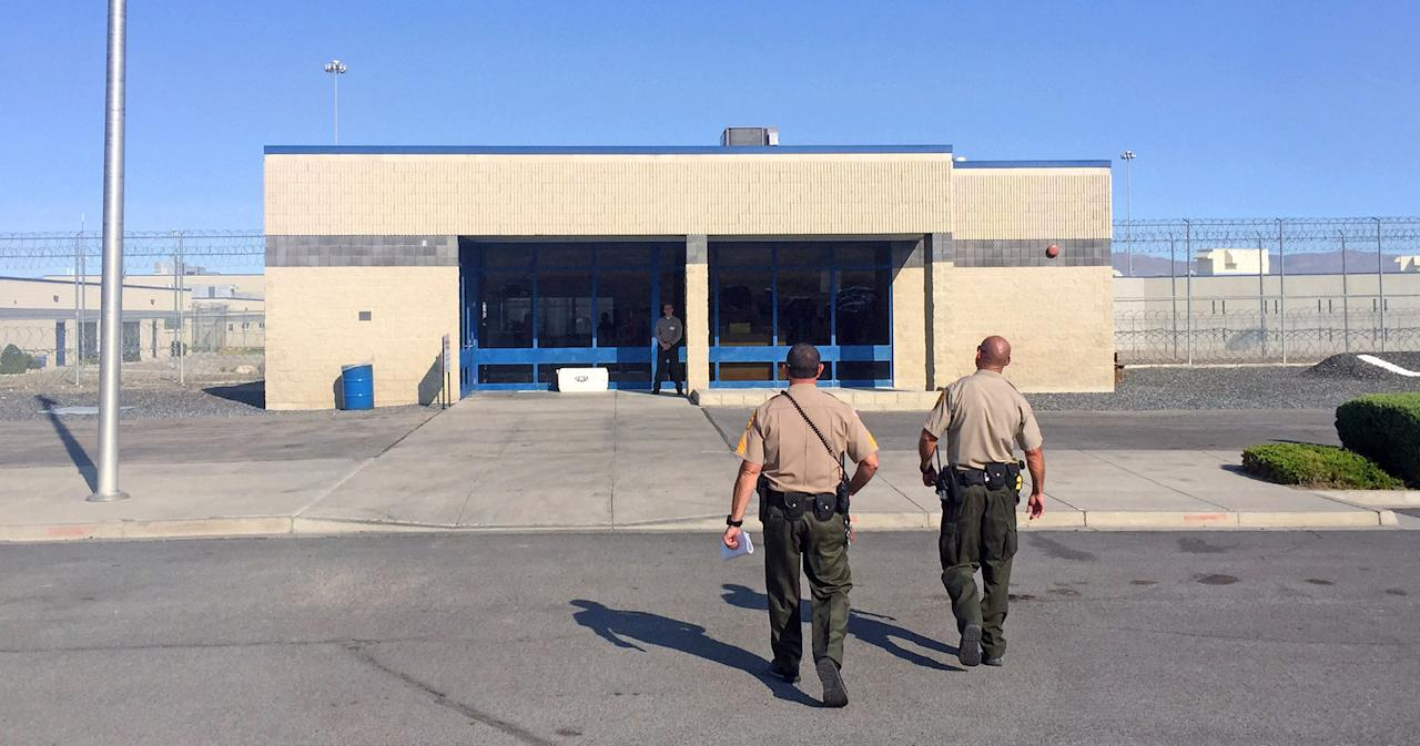 <p>The entrance to Nevada's Lovelock Correctional Center in Lovelock, Nev., where former NFL football star O.J. Simpson is being held. July 20, 2017. (AP Photo/Terry Chea) </p>
