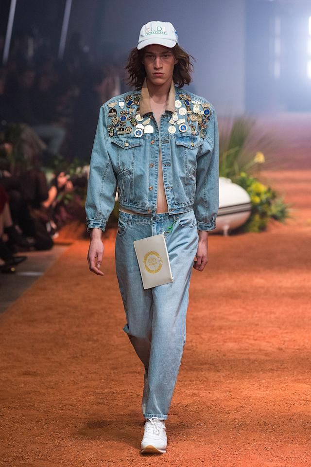 <p>Double denim certainly made an appearance. Photo: Getty </p>