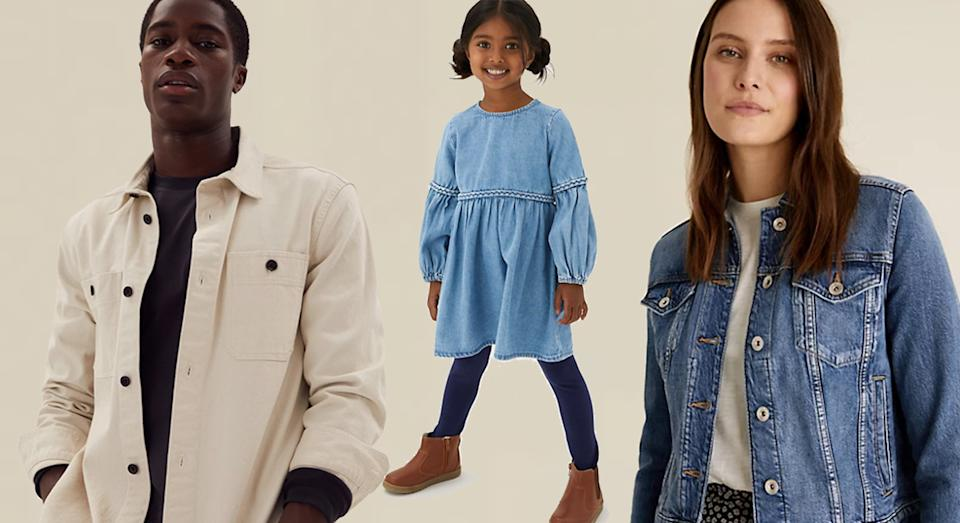 M&S has all the denim designs your wardrobe needs.  (Marks and Spencer / Yahoo Life UK)