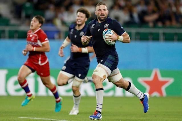 Former Scotland captain John Barclay is to retire from Test rugby saying he was fortunate to have lived a boyhood dream (AFP Photo/Adrian DENNIS)