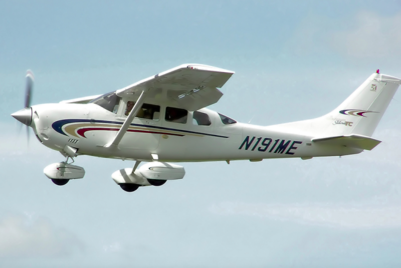 The 19-year-old is said to have fallen out of a light aircraft, similar to the one pictured (Wikipedia/file photo)