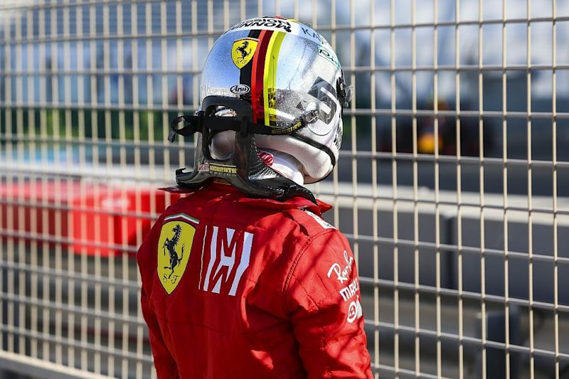 Disappointed Vettel