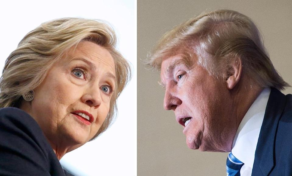 Hillary Clinton (L) has prepared meticulously for the coming clash, carefully studying Donald Trump's primary debate performances (AFP Photo/)