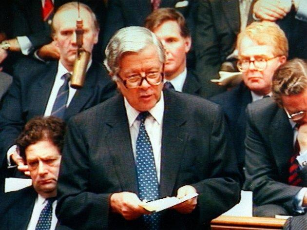 Geoffrey Howe's resignation statement in 1990 sparked the end of Margaret Thatcher's premiership