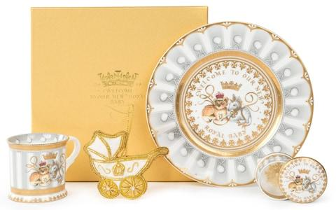 range of official commemorative chinaware to celebrate the birth - Credit: Royal Collection Trust