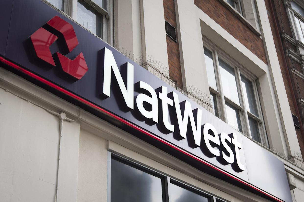 Undated file photo of a branch of NatWest. The Government has reduced its stake in Natwest Group - formerly RBS - from 61.7% to 59.8% after selling �1.13 billion-worth of shares back to the bank. Issue date: Friday March 19, 2021.