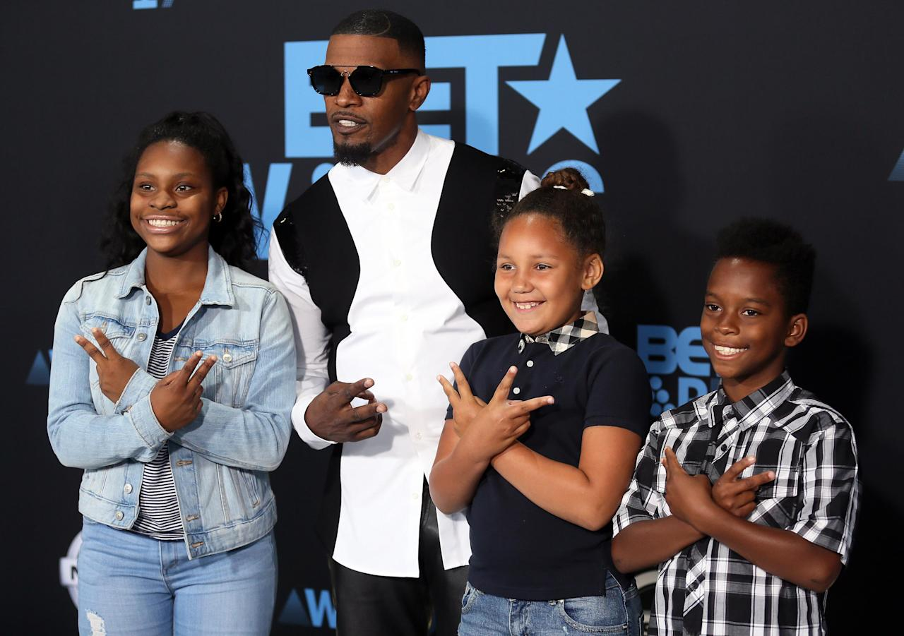 2017 BET Awards – Arrivals – Los Angeles, California, U.S., 25/06/2017 - Jamie Foxx and guests.  REUTERS/Danny Moloshok