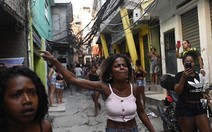 Residents have protested against the police operation - MAURO PIMENTEL/AFP via Getty Images
