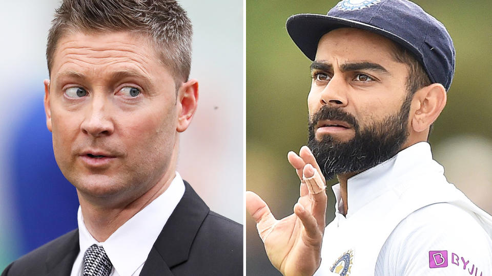 Michael Clarke and Virat Kohli, pictured here during recent Test matches.