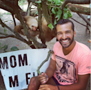 Posing with some sloths in Costa Rica.