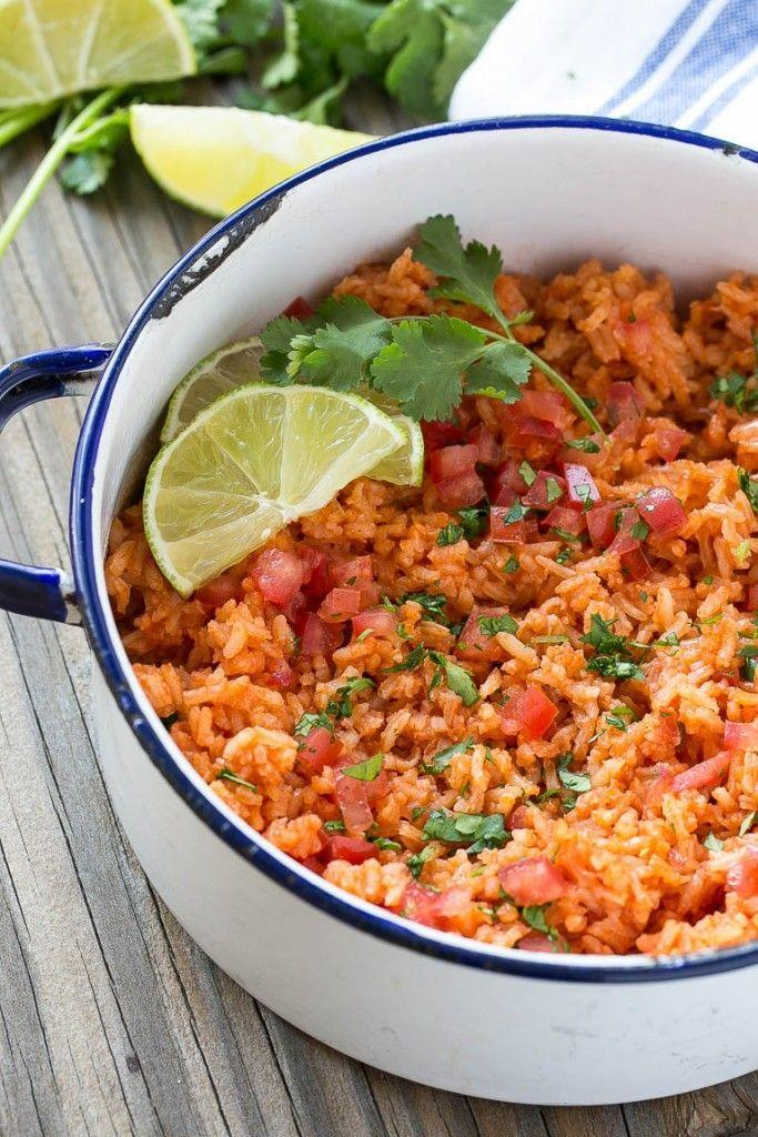 """<p>You can't have a Mexican meal without rice and beans.</p><p>Get the recipe from <a href=""""http://www.dinneratthezoo.com/mexican-rice-and-cantina-beans/"""" rel=""""nofollow noopener"""" target=""""_blank"""" data-ylk=""""slk:Dinner At The Zoo"""" class=""""link rapid-noclick-resp"""">Dinner At The Zoo</a>.</p>"""