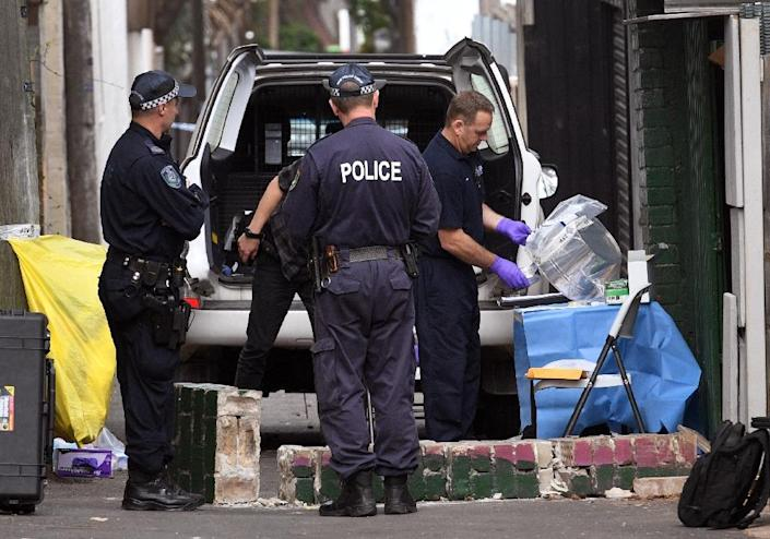 Police arrested four people after raiding homes across Sydney Saturday in a major counter-terrorism operation (AFP Photo/WILLIAM WEST)