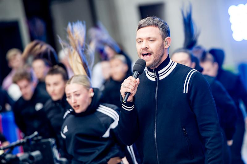 LONDON, UNITED KINGDOM - JUNE 21: Will Young performs live on the BBCs 'The One Show' on the evening of the launch of his new album 'Lexicon' in the courtyard at BBC Broadcasting House on June 21, 2019 in London, England. (Photo by Ollie Millington/Getty Images)