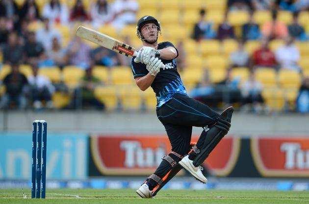 Hamish Rutherford of New Zealand bats during the third Twenty20 International match between New Zealand and England at Westpac Stadium on February 15, 2013 in Wellington, New Zealand.  (Photo by Gareth Copley/Getty Images)