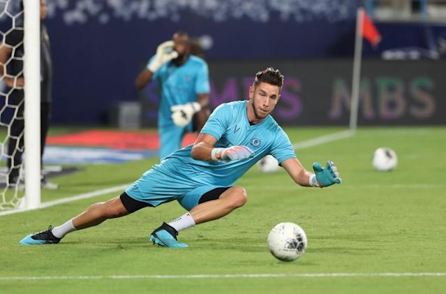 Brad Jones in action in the Saudi Arabia league