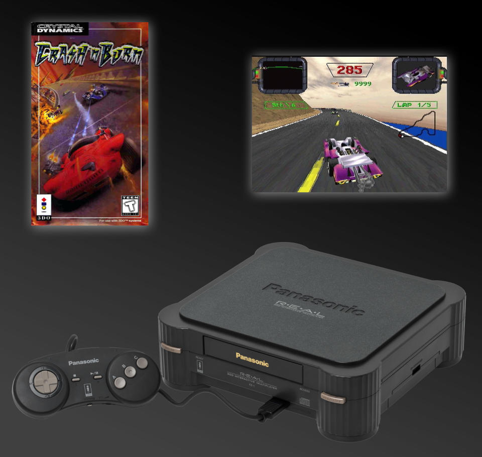 The only thing worse than having just a handful of titles at launch is having just one. The 3DO came out with the appropriately-named Crash 'N Burn, and if you didn't like it, too bad. As if that weren't enough, the system launched with a brutal $700 price tag (the equivalent of over $1,100 today).