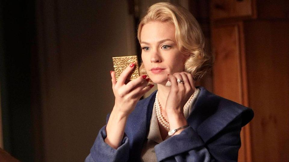 "<p>We have a lot of love for Betty Draper, who began her journey on Mad Men as the stereotypical housewife who ""had it all"" — and maintained class and subtlety at all costs. Throughout the seasons, Betty transformed into a more complex character — an imperfect mother, an (understandably) vindictive ex wife and, in general, a woman longing for purpose, drama, perfection and the respect or fear of those around her.</p>"