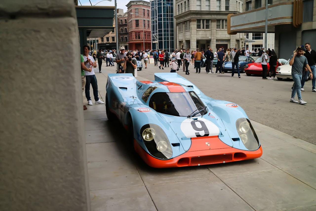 <p>One of the first and most notable cars you saw when you stepped off the bus and onto the Universal Studios backlot set was this legendary 917K. We'd bet this was the most photographed car at Luft 6, and rightly so. The 917K is one of the best known, most successful endurance racing cars in history. </p>
