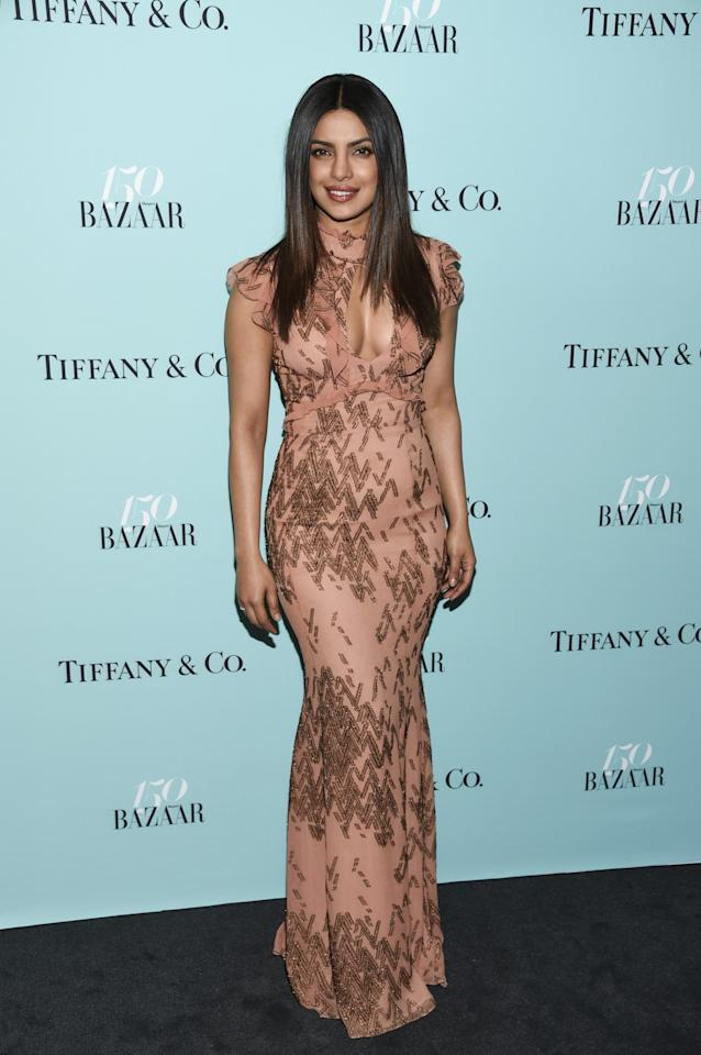 <p>Actress Priyanka Chopra attends the Harper's Bazaar 150th Anniversary Party at the Rainbow Room on Wednesday, April 19, 2017, in New York. (Photo by Evan Agostini/Invision/AP) </p>