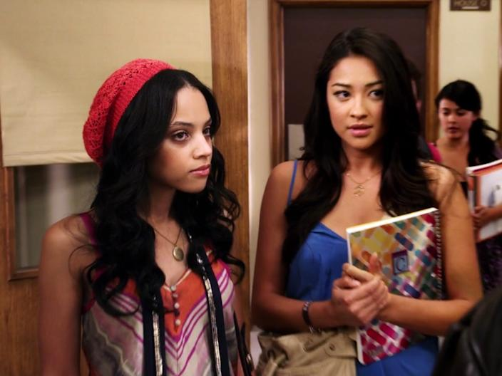 "Bianca Lawson and Shay Mitchell on ""Pretty Little Liars."""