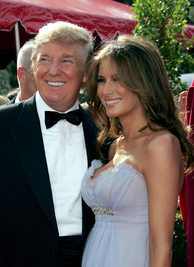 Donald and Melania Trump as newlyweds in 2005. (Photo: Getty Images)