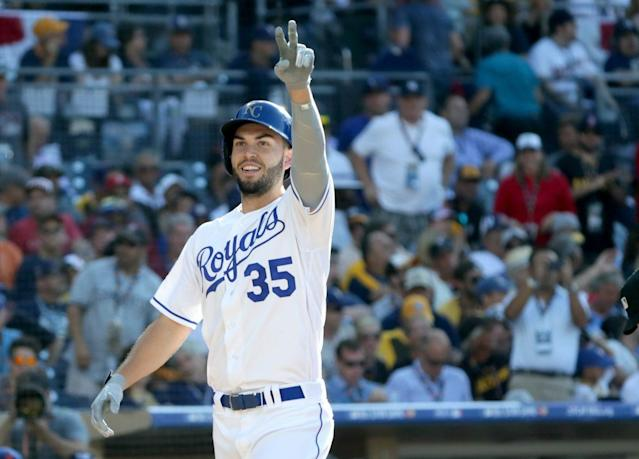 "<a class=""link rapid-noclick-resp"" href=""/mlb/players/8857/"" data-ylk=""slk:Eric Hosmer"">Eric Hosmer</a> might not deliver the power you want from a first baseman. (Getty Images)"