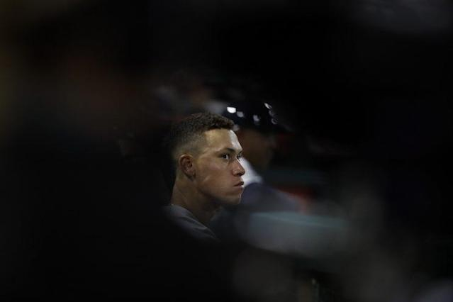 "Already in his rookie season, <a class=""link rapid-noclick-resp"" href=""/mlb/players/9877/"" data-ylk=""slk:Aaron Judge"">Aaron Judge</a> has planted himself as the best player in baseball. (AP)"