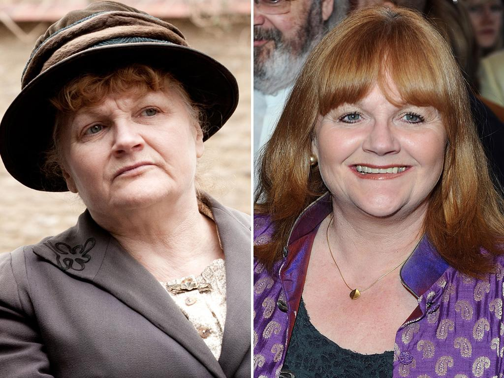 "<p>""Downton's"" cook Mrs. Patmore is always toiling away in the kitchen, so it's nice to see <strong>Lesley Nicol</strong> get cleaned up and receive some much-deserved accolades.</p>"