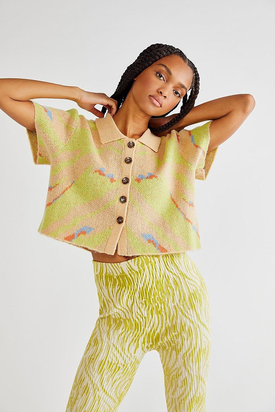 <p>This <span>Free People Lola Top</span> ($268) has a handmade look and feel, which totally caught my attention. The color choices are also playful and visually stunning.</p>