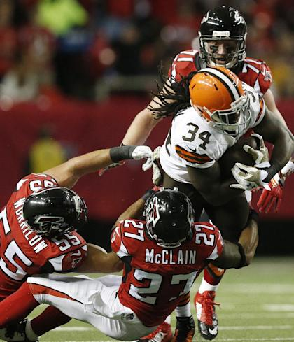 Isaiah Crowell celebrated Josh Gordon's return with a pair of scores (AP Photo/Brynn Anderson )