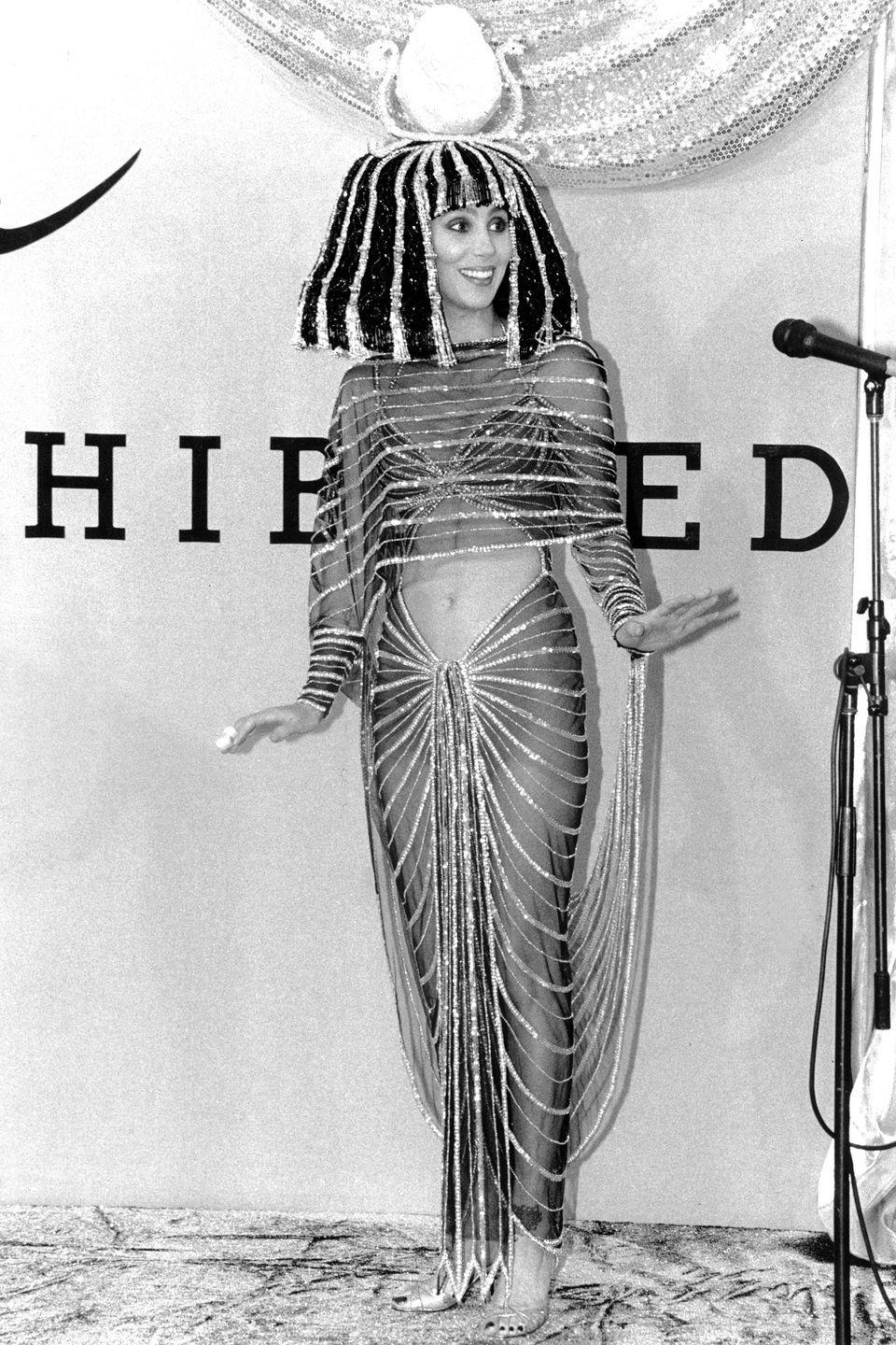<p>Cher as Cleopatra.</p>