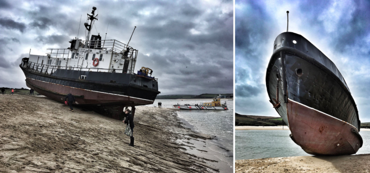 The Appleby came free and floated onto a Cornish beach (SWNS)