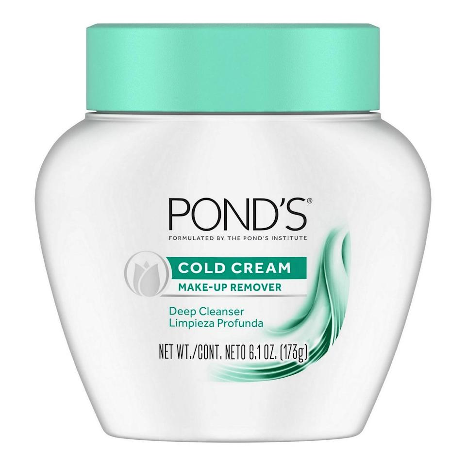 """<p>Perhaps my mother wouldn't approve of my late-night antics, but she would definitely approve of my evening skincare routine. She always reminded me to remove my makeup thoroughly before bed. </p> <p>She looked to Pond's Cold Cream for everything from moisturizing her face, neck, elbows, and hands (yes, she did that) to removing her makeup. I'd follow suit, despite how much the cream would burn my eyes when I tried to use it to remove pesky eyeliner. Today, Ponds actually created the <a href=""""https://www.popsugar.com/buy/Pond-Cold-Cream-Make-up-Remover-Deep-Cleanser-513533?p_name=Pond%27s%20Cold%20Cream%20Make-up%20Remover%20Deep%20Cleanser&retailer=target.com&pid=513533&price=5&evar1=bella%3Aus&evar9=46865687&evar98=https%3A%2F%2Fwww.popsugar.com%2Fbeauty%2Fphoto-gallery%2F46865687%2Fimage%2F46866673%2FAlways-Remove-Your-Makeup-Before-Bed&list1=beauty%20products%2Cbeauty%20tips%2Cpersonal%20essay%2Cwomen%20of%20color&prop13=mobile&pdata=1"""" rel=""""nofollow"""" data-shoppable-link=""""1"""" target=""""_blank"""" class=""""ga-track"""" data-ga-category=""""Related"""" data-ga-label=""""https://www.target.com/p/pond-39-s-cold-cream-make-up-remover-deep-cleanser-6-1oz/-/A-11223385?ref=tgt_adv_XS000000&amp;AFID=google_pla_df&amp;fndsrc=tgtao&amp;CPNG=PLA_Beauty%2BPersonal+Care%2BShopping_Local&amp;adgroup=SC_Health%2BBeauty&amp;LID=700000001170770pgs&amp;network=g&amp;device=c&amp;location=1022762&amp;ds_rl=1246978&amp;ds_rl=1247077&amp;ds_rl=1246978&amp;gclid=EAIaIQobChMIncDEuc7Y5QIVCniGCh2JRw-hEAQYASABEgITHvD_BwE&amp;gclsrc=aw.ds"""" data-ga-action=""""In-Line Links"""">Pond's Cold Cream Make-up Remover Deep Cleanser</a> ($5) - made with 50 percent moisturizer - that I love using to sweep off my makeup.</p>"""