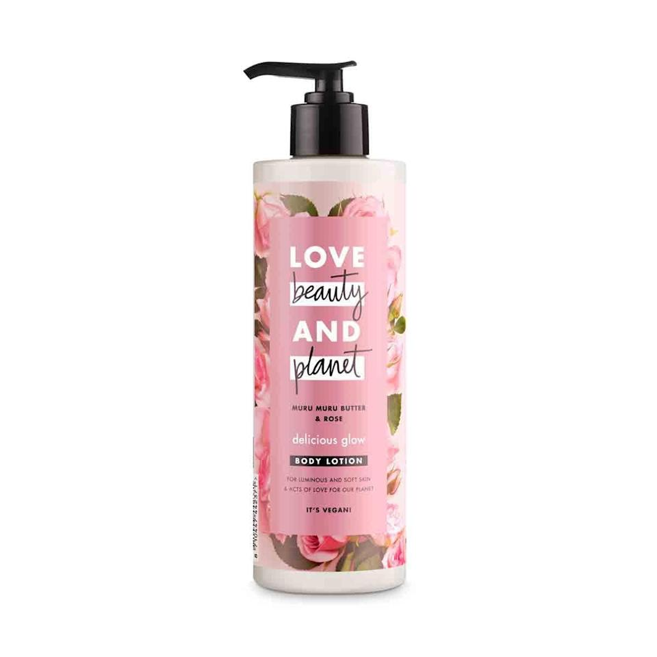 <p>There are many reasons to love the <span>Love Beauty + Planet Muru Muru Butter &amp; Rose Delicious Glow</span> ($9) that has nothing to do with the lotion itself - most importantly the brand's 100% recycled bottles. Add that to the fact the formula is incredibly hydrating (that would be the muru muru butter, glycerin, and sunflower seed oil), smells beautiful, and costs under a tenner, and we don't need convincing to add this to our winter beauty arsenal. </p>