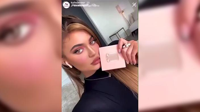 Kylie Jenner promoted one product via her Instagram account, the image was then copied and republished by others