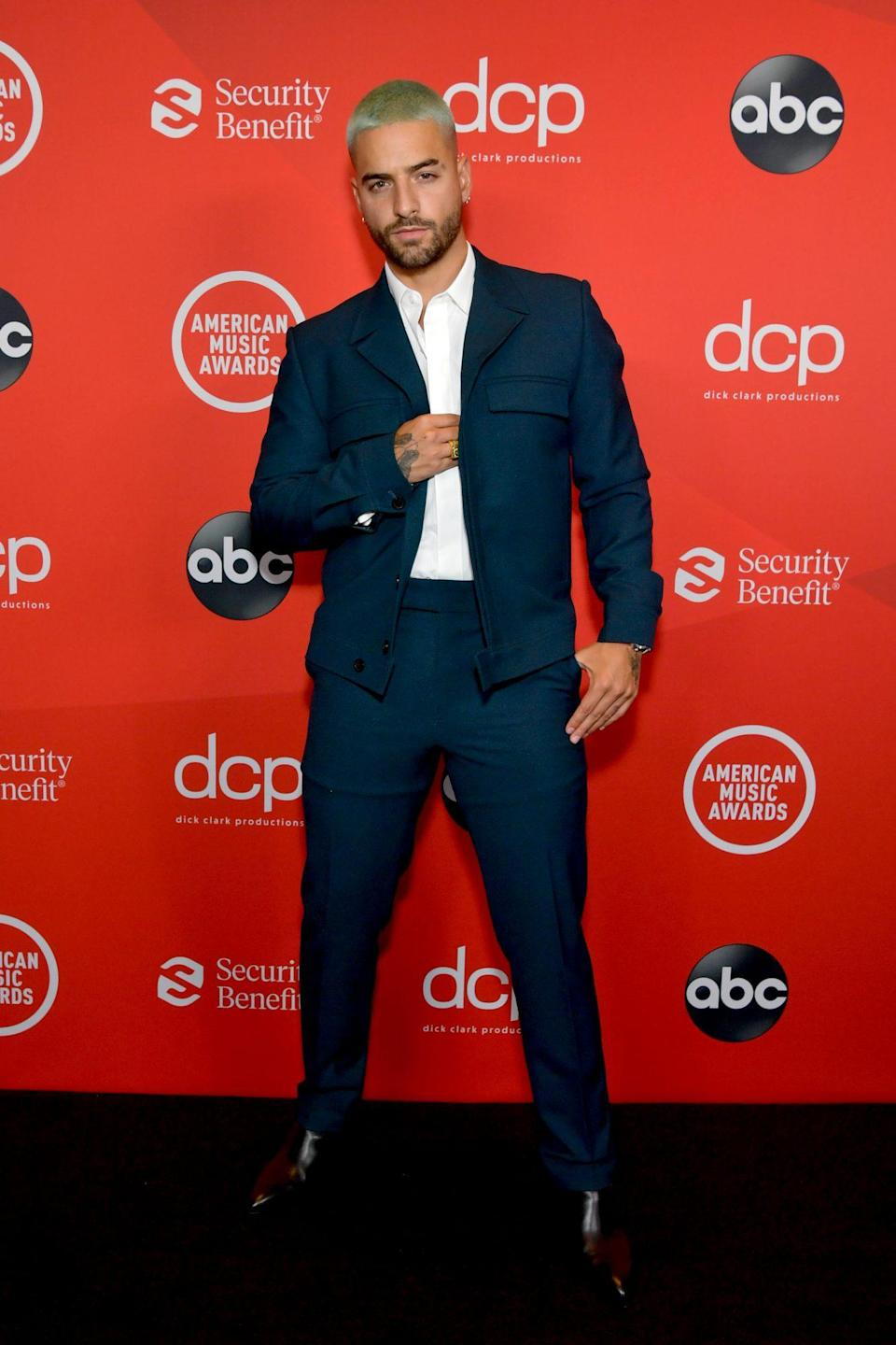 <p>Workwear meets formalwear in Maluma's twist on red carpet dressing, which blended cargo pockets with traditional tailoring.</p>