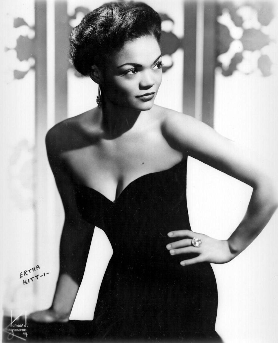 "<p>She studied at the New York School of Performing Arts, was a nightclub-singing phenomenon in Paris, and starred opposite Nat King Cole and Sammy Davis Jr. Eartha Kitt was beloved for her charm and femininity and was once called ""the most exciting woman alive"" by actor-director Orson Welles. Kitt was outspoken against American soldiers dying in the Vietnam War, despite the negative effect to her career because of the comments. </p>"