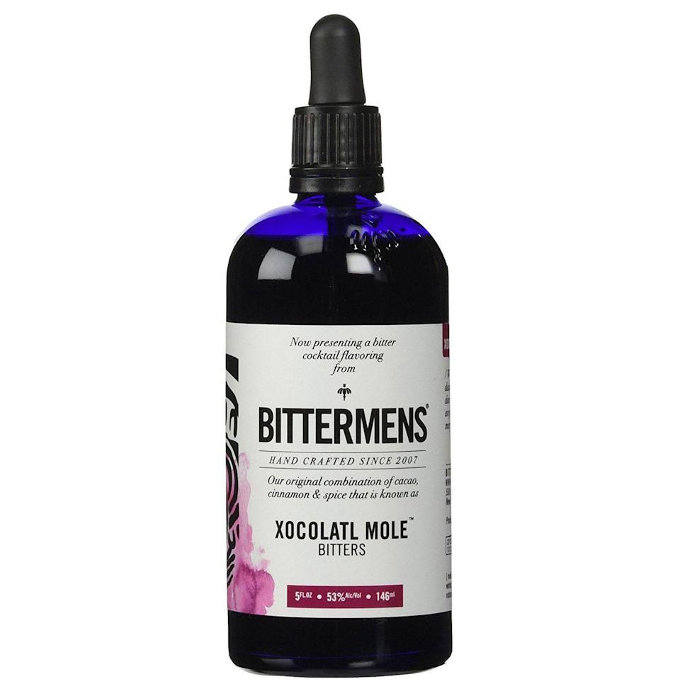 "<p><strong>Bittermen's</strong></p><p>amazon.com</p><p><strong>$21.25</strong></p><p><a href=""https://www.amazon.com/dp/B004Y4Z9CC?tag=syn-yahoo-20&ascsubtag=%5Bartid%7C10054.g.3222%5Bsrc%7Cyahoo-us"" rel=""nofollow noopener"" target=""_blank"" data-ylk=""slk:Buy"" class=""link rapid-noclick-resp"">Buy</a></p><p>Instead of chocolates, get her mole bitters made from cacao, cinnamon, and spice. They're especially delicious in dark rum and tequila drinks.</p>"
