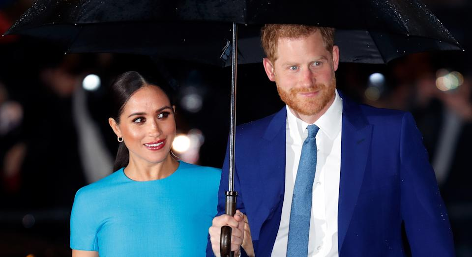 Prince Harry insists it was 'news' to him that he and Meghan Markle had signed off social media for good. (Getty Images)