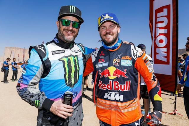 """Ken Block and #1 Red Bull KTM Factory Racing: Toby Price <span class=""""copyright"""">A.S.O. </span>"""